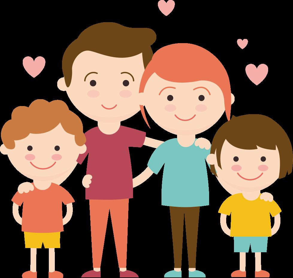familia con hijos con autismo. Le ofrecemos Terapias de  autismo
