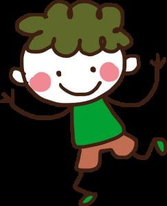 niño con TEA contento